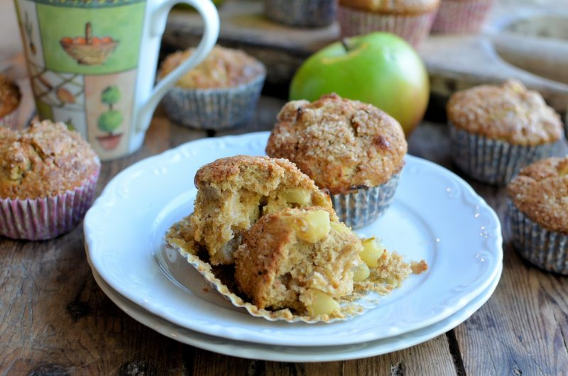 Bramley, Cinnamon and Walnut Muffins