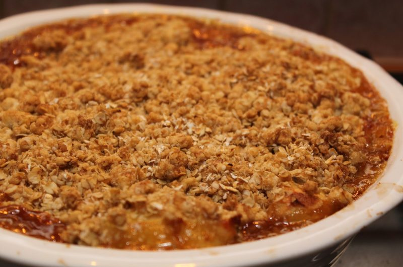 Toffee Apple Crumbles
