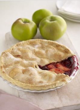 Bramley Apple and Blackberry Pie