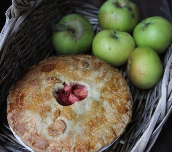 Bramley Apple and Blackberry Pie