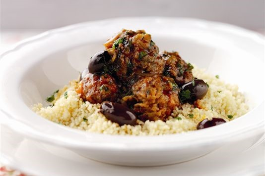 LAMB AND BRAMLEY APPLE MOROCCAN MEATBALL TAGINE